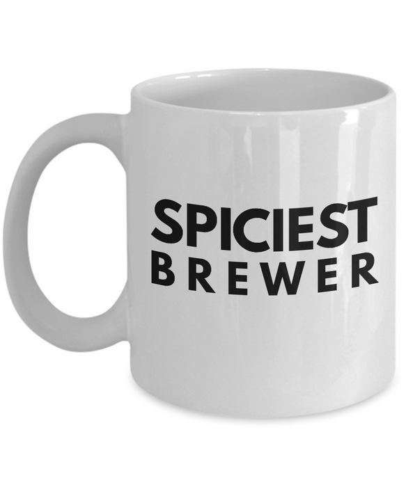 Spiciest Brewer - Birthday Retirement or Thank you Gift Idea -   11oz Coffee Mug - Ribbon Canyon