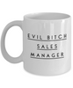 Evil Bitch Sales Manager, 11Oz Coffee Mug Unique Gift Idea for Him, Her, Mom, Dad - Perfect Birthday Gifts for Men or Women / Birthday / Christmas Present - Ribbon Canyon