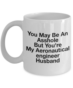 You May Be An Asshole But You'Re My Aeronautical Engineer Husband Gag Gift for Coworker Boss Retirement or Birthday - Ribbon Canyon