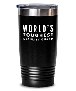 Security Guard - Novelty Gift White Print 20oz. Stainless Tumblers - Ribbon Canyon
