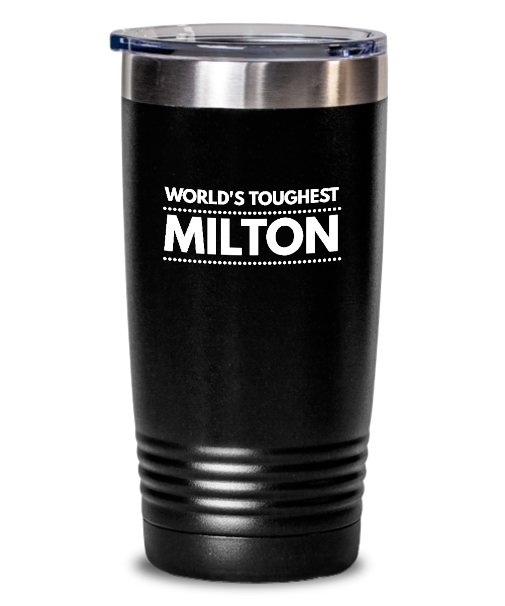#GB Tumbler White NAME 3537 World's Toughest MILTON