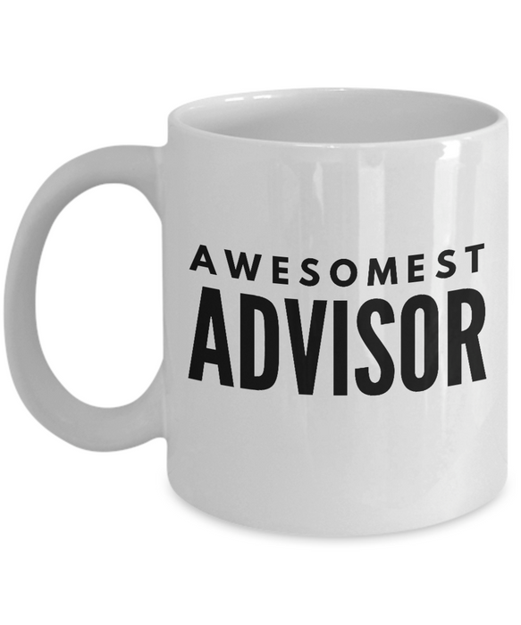 Awesomest Advisor - Birthday Retirement or Thank you Gift Idea -   11oz Coffee Mug - Ribbon Canyon