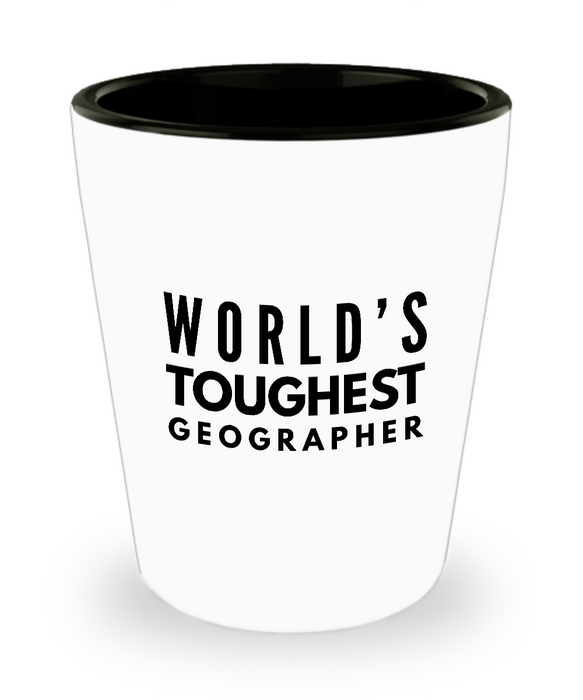 Friend Leaving Novelty Short Glass for Geographer
