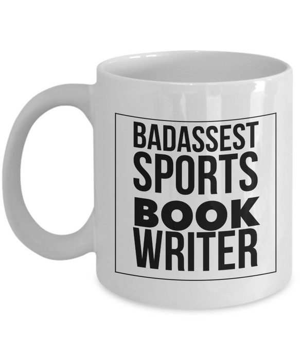 Badassest Sports Book Writer Gag Gift for Coworker Boss Retirement or Birthday - Ribbon Canyon