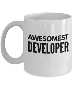 Awesomest Developer - Birthday Retirement or Thank you Gift Idea -   11oz Coffee Mug - Ribbon Canyon