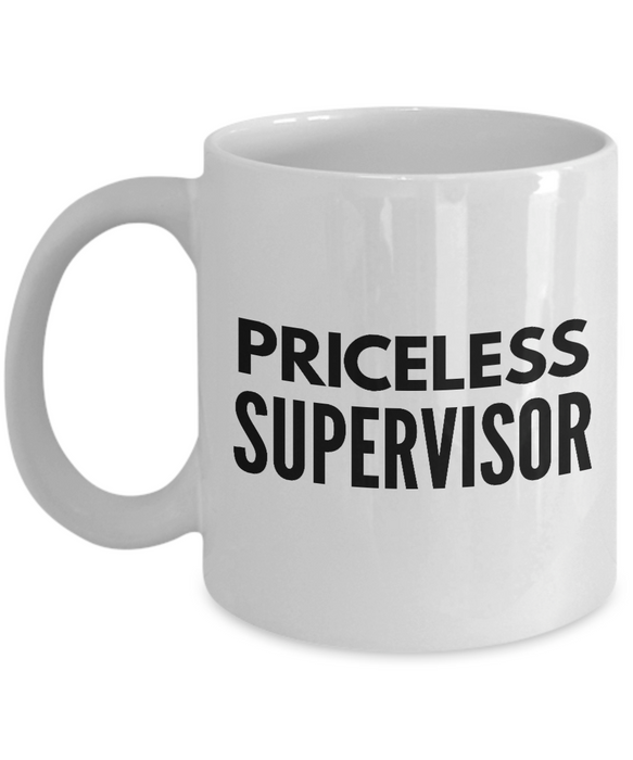 Priceless Supervisor - Birthday Retirement or Thank you Gift Idea -   11oz Coffee Mug - Ribbon Canyon