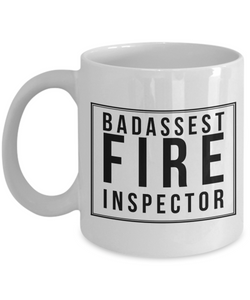 Badassest Fire Inspector, 11oz Coffee Mug  Dad Mom Inspired Gift - Ribbon Canyon