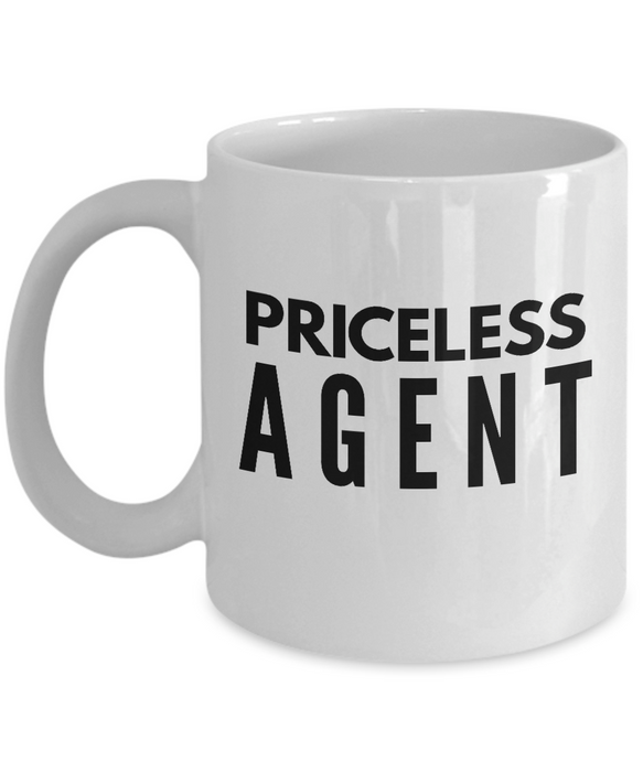Priceless Agent - Birthday Retirement or Thank you Gift Idea -   11oz Coffee Mug - Ribbon Canyon