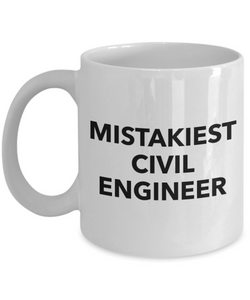 Mistakiest Civil Engineer Gag Gift for Coworker Boss Retirement or Birthday - Ribbon Canyon