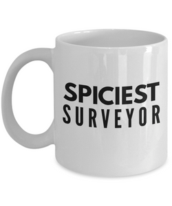 Spiciest Surveyor - Birthday Retirement or Thank you Gift Idea -   11oz Coffee Mug - Ribbon Canyon
