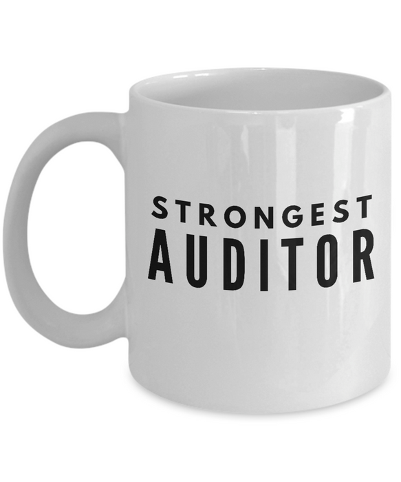 Strongest Auditor - Birthday Retirement or Thank you Gift Idea -   11oz Coffee Mug - Ribbon Canyon