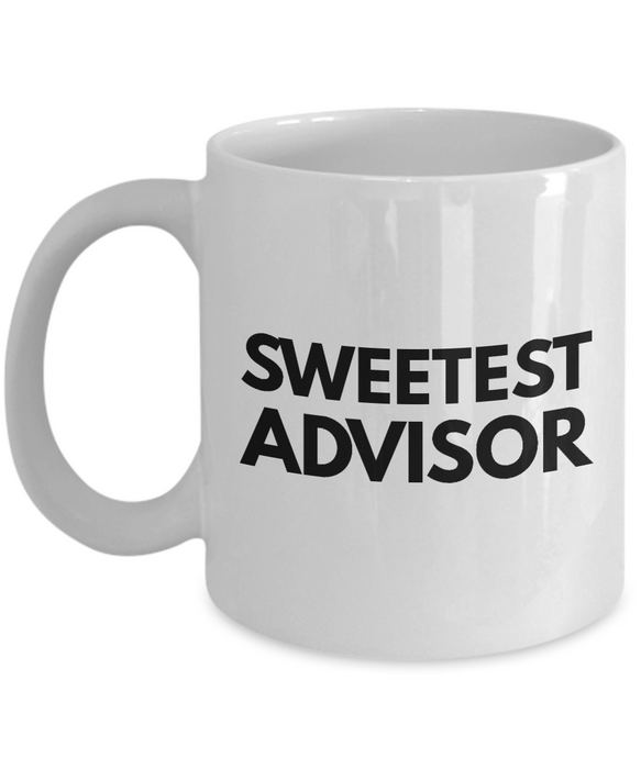 Sweetest Advisor - Birthday Retirement or Thank you Gift Idea -   11oz Coffee Mug - Ribbon Canyon
