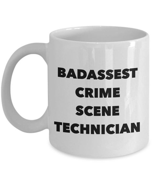 Badassest Crime Scene Technician Gag Gift for Coworker Boss Retirement or Birthday - Ribbon Canyon