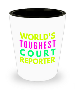 Creative Court Reporter Short Glass - Ribbon Canyon