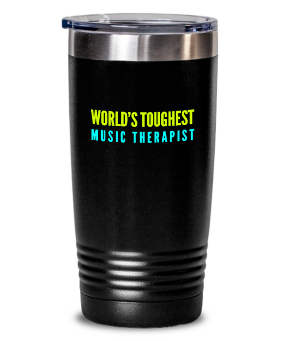 World's Toughest Office Clerk Inspiration Quote 20oz. Stainless Tumblers - Ribbon Canyon