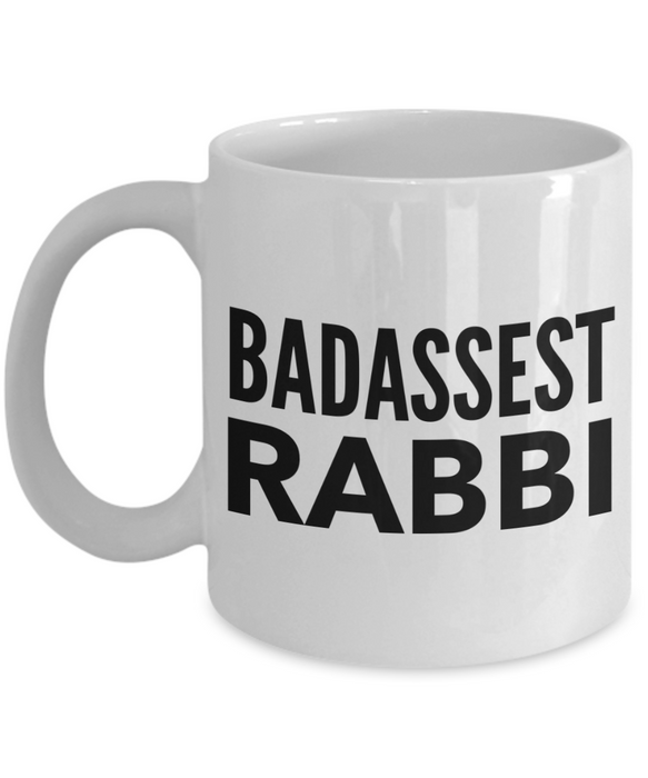 Badassest Rabbi, 11oz Coffee Mug  Dad Mom Inspired Gift - Ribbon Canyon