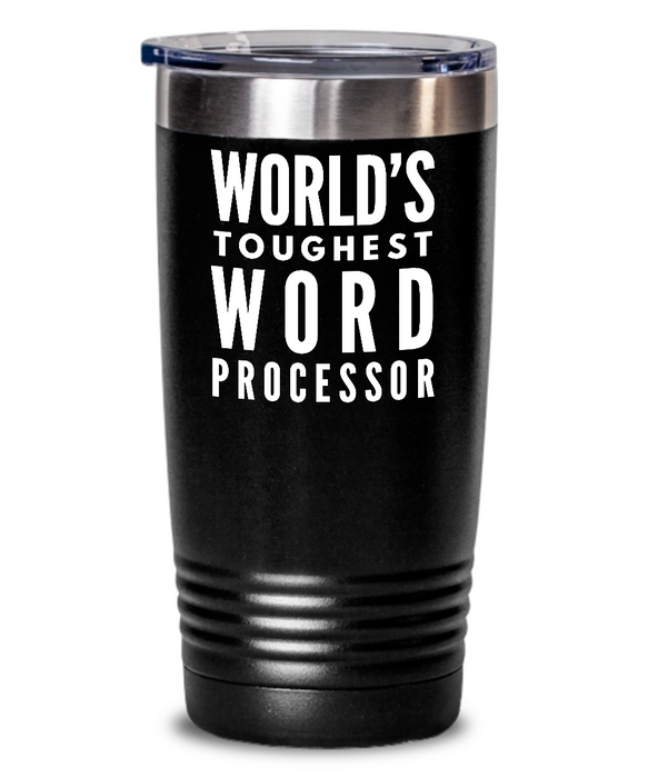 Word Processor - Novelty Gift White Print 20oz. Stainless Tumblers - Ribbon Canyon
