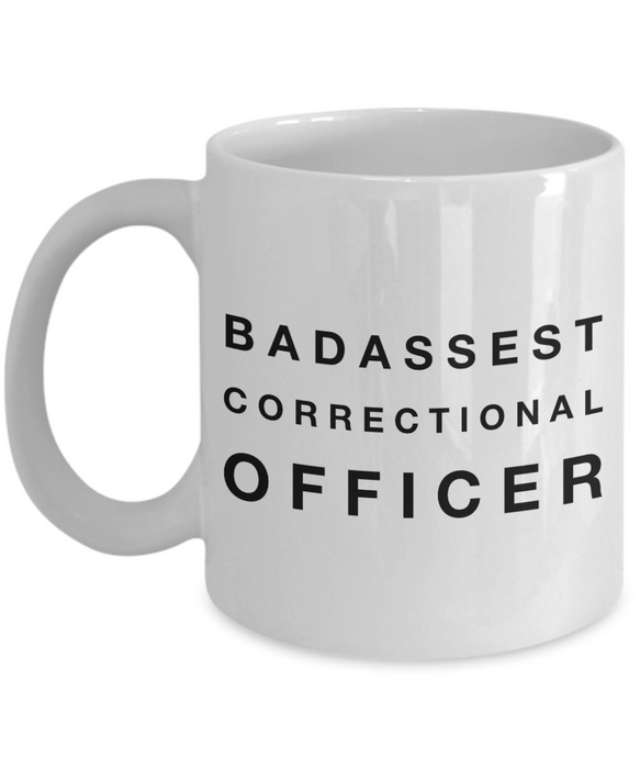Badassest Correctional Officer, 11oz Coffee Mug  Dad Mom Inspired Gift - Ribbon Canyon