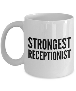 Strongest Receptionist - Birthday Retirement or Thank you Gift Idea -   11oz Coffee Mug - Ribbon Canyon