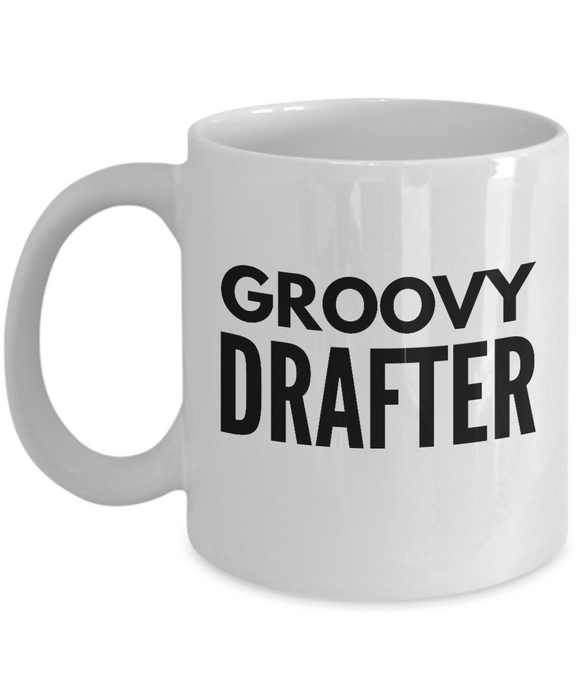 Groovy Drafter - Birthday Retirement or Thank you Gift Idea -   11oz Coffee Mug - Ribbon Canyon