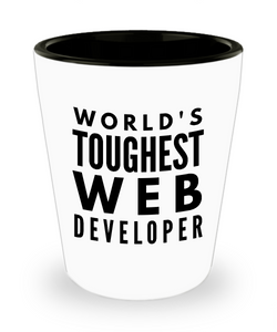 Friend Leaving Novelty Short Glass for Web Developer