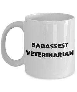 Badassest Veterinarian, 11oz Coffee Mug  Dad Mom Inspired Gift - Ribbon Canyon