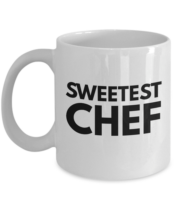 Sweetest Chef - Birthday Retirement or Thank you Gift Idea -   11oz Coffee Mug - Ribbon Canyon
