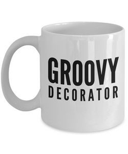 Groovy Decorator - Birthday Retirement or Thank you Gift Idea -   11oz Coffee Mug - Ribbon Canyon