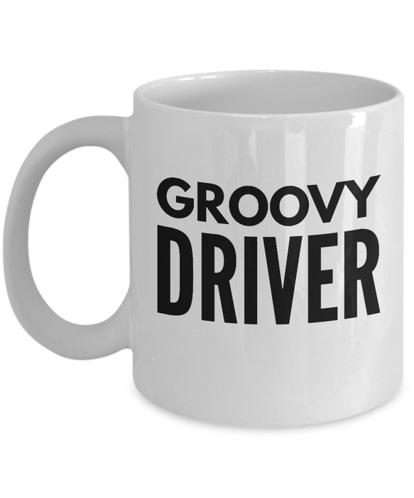Groovy Driver - Birthday Retirement or Thank you Gift Idea -   11oz Coffee Mug - Ribbon Canyon
