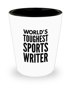 Friend Leaving Novelty Short Glass for Sports Writer