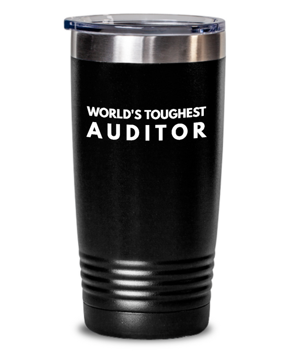 Auditor - Novelty Gift White Print 20oz. Stainless Tumblers - Ribbon Canyon