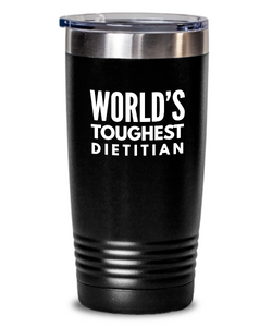 Dietitian - Novelty Gift White Print 20oz. Stainless Tumblers - Ribbon Canyon
