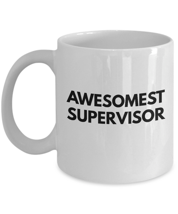 Awesomest Supervisor - Birthday Retirement or Thank you Gift Idea -   11oz Coffee Mug - Ribbon Canyon