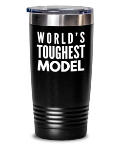 Model - Novelty Gift White Print 20oz. Stainless Tumblers - Ribbon Canyon