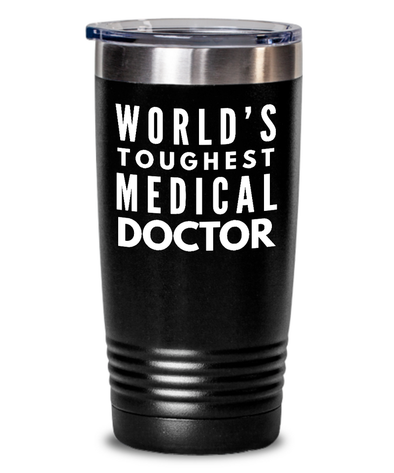 Medical Doctor - Novelty Gift White Print 20oz. Stainless Tumblers - Ribbon Canyon