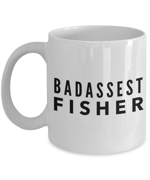 Badassest Fisher Gag Gift for Coworker Boss Retirement or Birthday - Ribbon Canyon