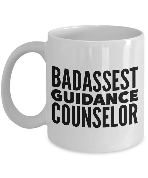 Badassest Guidance Counselor, 11oz Coffee Mug  Dad Mom Inspired Gift - Ribbon Canyon