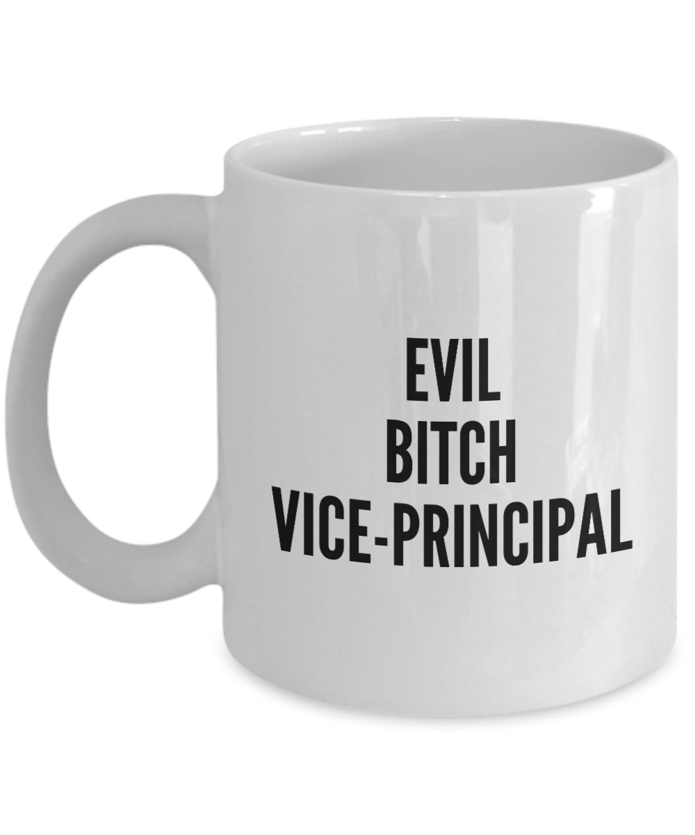 Evil Bitch Vice-principal, 11Oz Coffee Mug Best Inspirational Gifts and Sarcasm Perfect Birthday Gifts for Men or Women / Birthday / Christmas Present - Ribbon Canyon