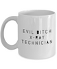 Funny Mug Evil Bitch X-ray Technician 11Oz Coffee Mug Funny Christmas Gift for Dad, Grandpa, Husband From Son, Daughter, Wife for Coffee & Tea Lovers Birthday Gift Ceramic - Ribbon Canyon