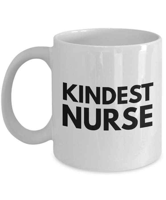 Kindest Nurse - Birthday Retirement or Thank you Gift Idea -   11oz Coffee Mug - Ribbon Canyon