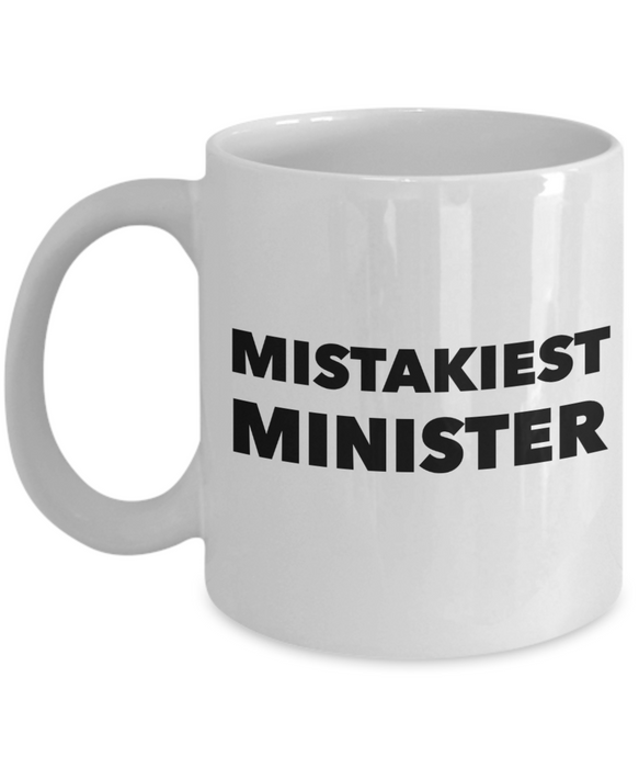 Mistakiest Minister Gag Gift for Coworker Boss Retirement or Birthday - Ribbon Canyon