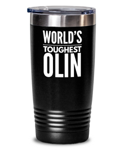 #GB Tumbler White NAME 3790 World's Toughest OLIN