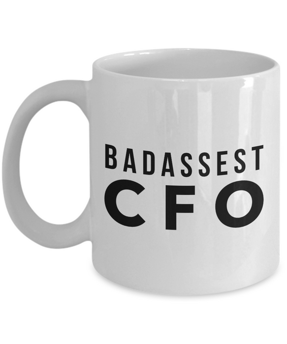 Badassest Cfo, 11oz Coffee Mug Gag Gift for Coworker Boss Retirement or Birthday - Ribbon Canyon