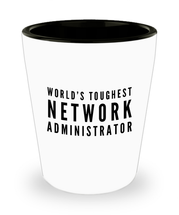 Friend Leaving Novelty Short Glass for Network Administrator