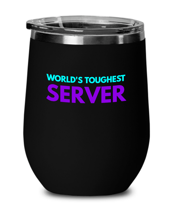 World's Toughest Server Insulated 12oz Stemless Wine Glass - Ribbon Canyon
