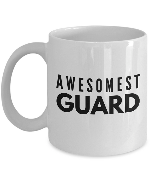 Awesomest Guard - Birthday Retirement or Thank you Gift Idea -   11oz Coffee Mug - Ribbon Canyon