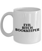 Evil Bitch Bookkeeper, 11Oz Coffee Mug Unique Gift Idea for Him, Her, Mom, Dad - Perfect Birthday Gifts for Men or Women / Birthday / Christmas Present - Ribbon Canyon
