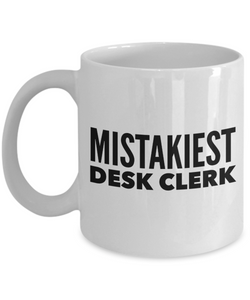 Mistakiest Desk Clerk Gag Gift for Coworker Boss Retirement or Birthday - Ribbon Canyon