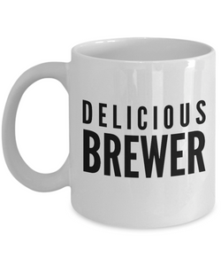 Delicious Brewer - Birthday Retirement or Thank you Gift Idea -   11oz Coffee Mug - Ribbon Canyon
