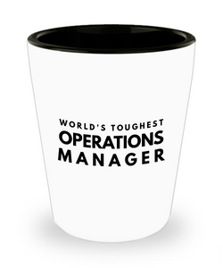 Friend Leaving Novelty Short Glass for Operations Manager